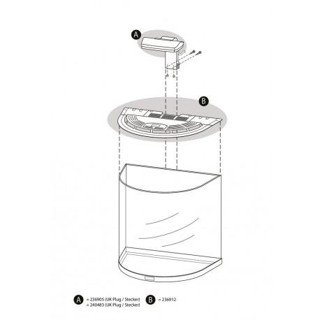 tetra aquaart led 60l abdeckung anthrazit. Black Bedroom Furniture Sets. Home Design Ideas