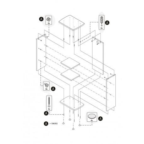 Tetra AquaArt Montageset Schrank 20/30/60L