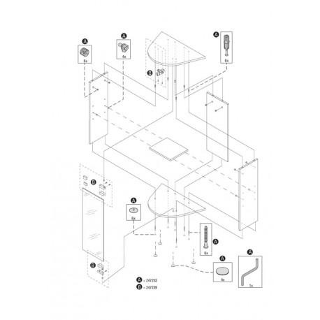 Tetra AquaArt Expl.Line Montageset Schranktür 30/60L
