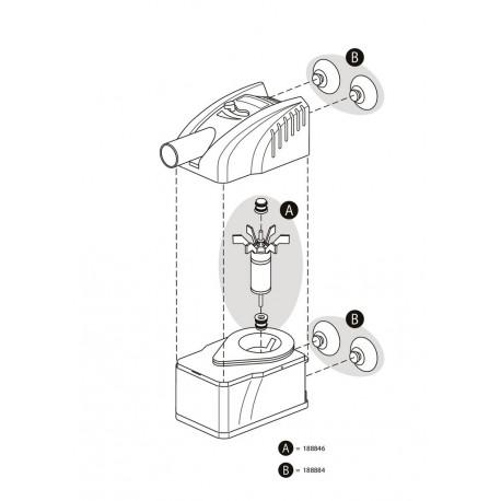 Tetra Haftsauger für WP Wasserpumpen