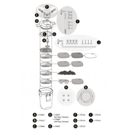 Tetra Außenfilter EX 400-800 Plus Ersatz-Auslauf-Set